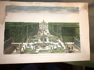 ENVIRONS DE ROME.JARDIN DE PLAISANCE DU PAPE (VUE D'OPTIQUE FIN XVIIIéme).