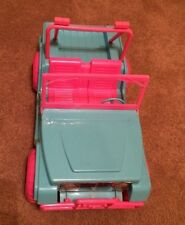 Barbie size plastic JEEP blue and pink FASHION GIRL MUD MONSTER holds 2 dolls