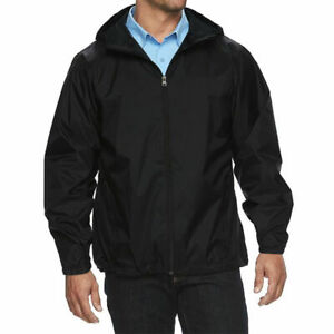 Men's Water Resistant Zip Up Hooded Lightweight Windbreaker Rain Jacket