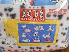 NEW Vintage 101 Dalmatians Dog Twin Comforter Set 3 pcs Blue
