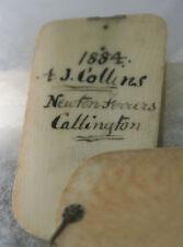 ANTIQUE c1884~~Original memoir carved circular box~~