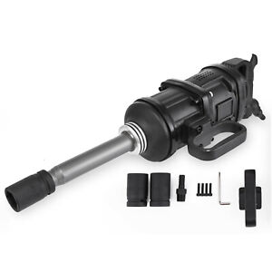 """1"""" Drive Air Pneumatic Impact Wrench Long Nose Twin Hammer 5800N.m w/2pc Socket"""