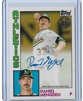 2019 Topps Series 2 Baseball 1984 Autograph Daniel Mengden Oakland Athletics