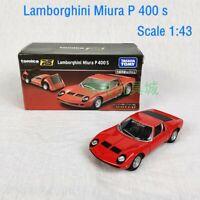 TOMY TOMICA PREMIUM RS 1/43 LAMBORGHINI MIURA P400S DIECAST CAR MODEL 162056