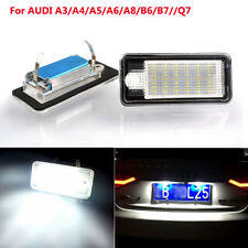 2x Error Free LED Car License Number Plate Light Lamp for AUDI A3 A4 A5 A6 A8 Q7