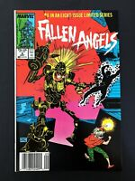 FALLEN ANGELS #6 MARVEL COMICS 1987 VF/NM NEWSSTAND EDITION