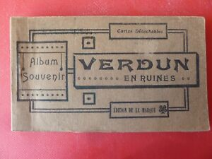 20 Postcards of Verdun Album Souvenir Maurice Tesson Limoges