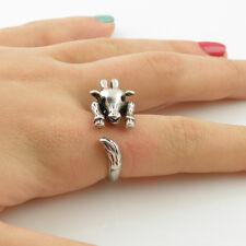 Animal Wrap Ring Silver Giraffe Adjustable Size 9 Ring