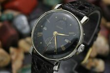 Vintage RECORD Datocfix Triple Date Moonphase Cal. 107 White Gold Filled Watch