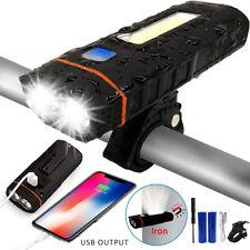 6000LM LED Fahrradlampen Fahrradlicht Fahrradbeleuchtung COB mit 18650 Akku USB