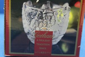"""Gorham Holiday Traditions Snowy Sweethearts 3-1/2"""" Votive Tealight Candle Holder"""