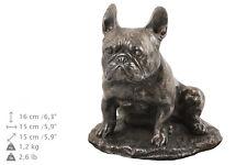 bulldog francés CONMEMORATIVO Urna para de perro cenizas, con statue.crematio