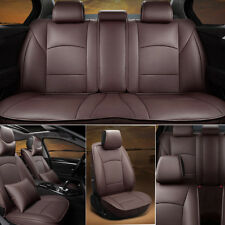 Coffee PU Leather Car Seat Cover For 2010-2016 Ford F150 Front&Rear w/Pillows