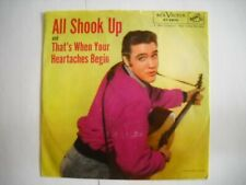 """ELVIS PRESLEY """"ALL SHOOK UP / THAT'S WHEN YOUR HEARTACHES BEGIN"""" 45/PS"""