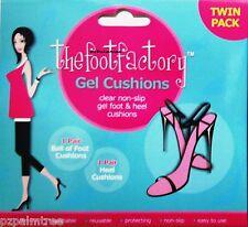 Twin Pack Cojines de talón de Gel de pie & señoras de la alta comodidad Plantilla Zapato fiesta Pies