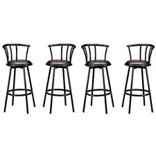 Heavy Duty, Metal Swivel. Vinyl Seat. Black Barstool - Pubs, Bars, Restaurants