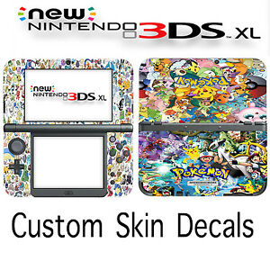 Custom Pokemon Skin Decal Sticker Cover For New Nintendo 3DS XL Free Fast Ship