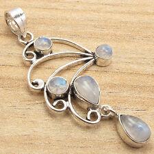 5 Gemset High Quality Pendant ! 925 Silver Plated RAINBOW MOONSTONE ART Jewelry