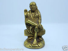 Shirdi Sai Baba Handmade Brass Statue Hindu God Temple Home Decor Idol Antique