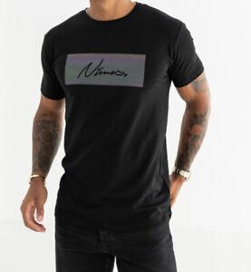 New Mens Nimes Black Iridescent Logo T Shirt Size XL £19.99 OrBest Offer RRP £35