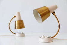 Set of Two MID CENTURY MODERN Brass NIGHT TABLE LAMPS Wall Lights 1950s, Germany
