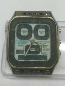 USED CITIZEN 8943 DIGI-ANA ROBOT FACE WATCH FOR PARTS & REPAIRS & WATCHMAKERS