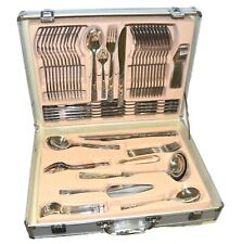 CUTLERY SET 18/10 STAINLESS STEEL 86 PIECE SPREEM QUALITY TABLE SILVER CANTEEN