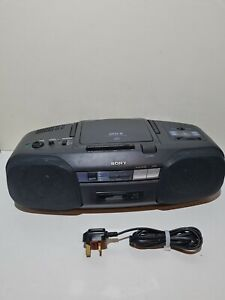 Sony CFD-6 Vintage Portable Radio Tape Recorder Boombox Cassette Player Fault