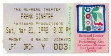FRANK SINATRA ~ 1992 Concert Ticket in Ft Lauderdale, Florida