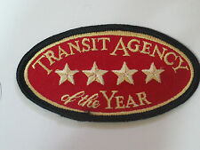 Vintage Transit Agency of the Year Patch (#3042)