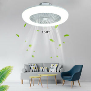 55cm Modern Ceiling Fan with Lighting LED Light Adjustable Wind Speed Re Control