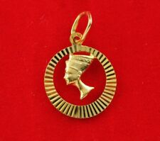NEW 9ct Yellow Gold Queen Nefertiti Charm 375 Pendant 9KT Egypt Symbol Travel