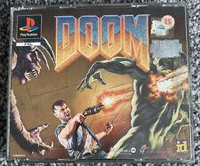 PS1 Playstation 1 Game - DOOM - Big Box - Black Label - VGC - Free UK PP