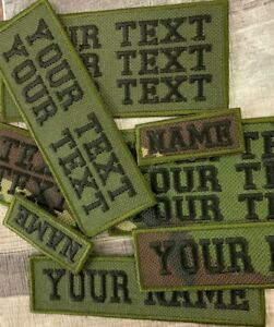 PERSONALISED WATERPROOF CAMOUFLAGE CORDURA STYLE EMBROIDERED NAME PATCH TAG