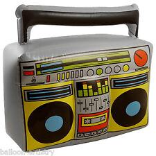 44cm del tutto anni 1980 anni'80 GONFIABILE Boombox NEON Musica Stereo decorazione Prop