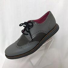 Cole Haan Lunargrand Men's Shoes Sz 8 Brogue Wingtip Reflective Gray Pink Sole