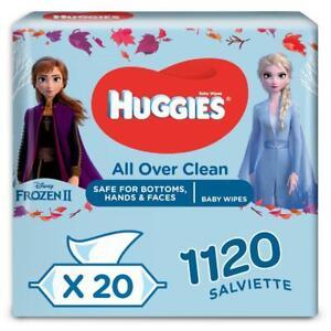 Huggies Salviette Natural Care Disney Maxi Confezione da 20 pacchi da 56 Salviet