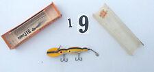 """Vintage Bomber Baits - #M1689  Waterdog -4 1/2"""" Large -Yellow  w/ Black Stripe"""