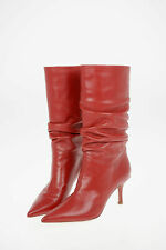 AMINA MUADDI women Boots Sz 37,5 IT Red Leather IDA Shoes Boots Booties Red 3...