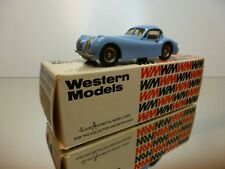 WESTERN MODELS WMS3 JAGUAR XK120 COUPE RHD 1951 - BLUE 1:43 - VERY GOOD IN BOX
