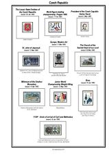 Print your own Czech Republic Stamp Album, fully illustrated and annotated