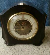 Smiths Art Decó 8 día llamativa Mantel Clock caso De Baquelita