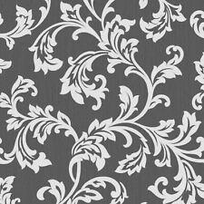 Cavendish Blumen Tapete Schwarz / Silber fine decor FD40989 - Subtil Glitzer