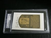 Lefty Grove Autographed HOF Cut PSA Certified Encapsulated