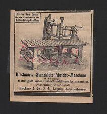 LEIPZIG-SELLERHAUSEN, Werbung 1916 Kirchner & Co. AG Stanzklotz-Abricht-Maschine