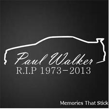 Paul Walker RIP Car Window Bumper JDM VW VAG Novelty Vinyl Decal Sticker