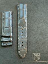 OEM Tag Heuer Black Alligator Strap 20MM for 18K Gold Monza CR5140/FC814 - $450