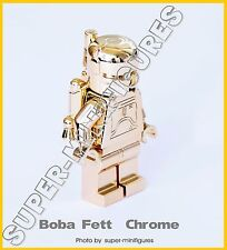 Lego Boba Fett gold chrome star wars minifigure  (lego custom)