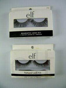 e.l.f. Dramatic and Natual Lash Kit Black Eyelashes & Glue 2 Sets Faux Lashes