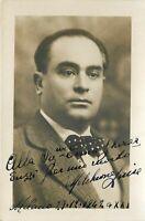 Opera - Autografo del basso Melchiorre Luise (Napoli, 1896 - Milano, 1967)